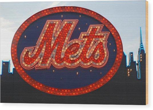 Lets Go Mets Wood Print