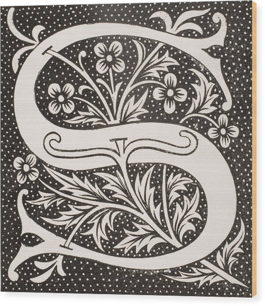 Letter S Wood Print