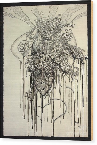Letting Go Wood Print by Rory Canfield
