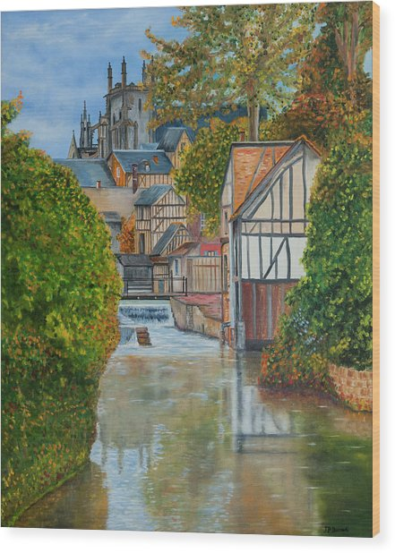 L'eure A Louviers -  France Wood Print