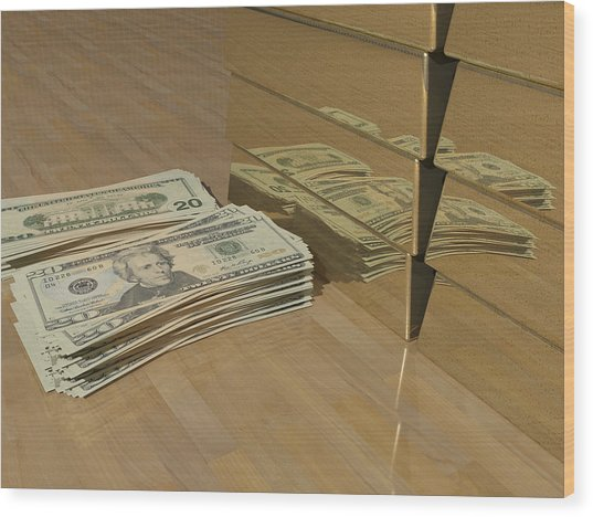 Level One Money Manifestation  Wood Print