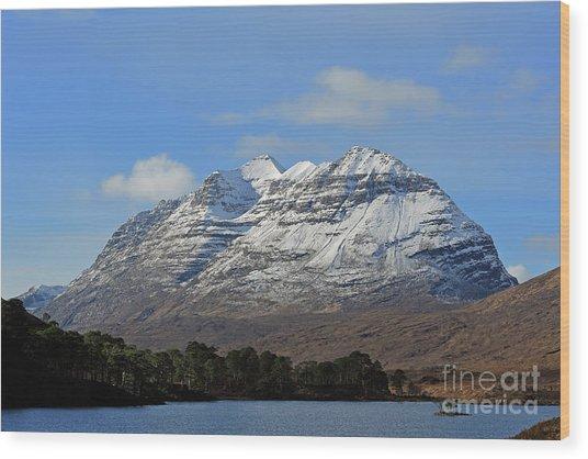 Liatach And Loch Clair Wood Print