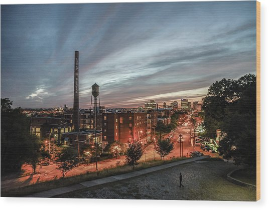 Libby Hill Post Sunset Wood Print