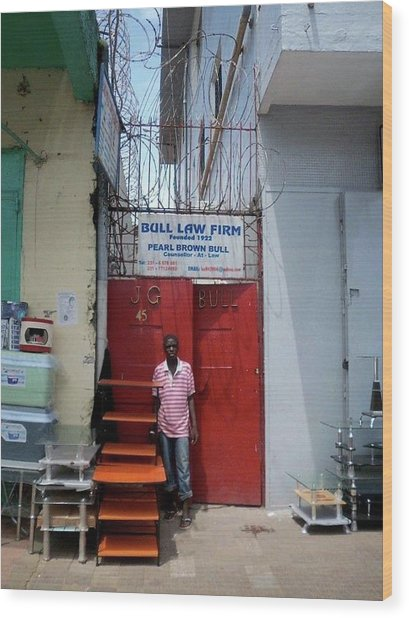 Liberian Lawyer Wood Print