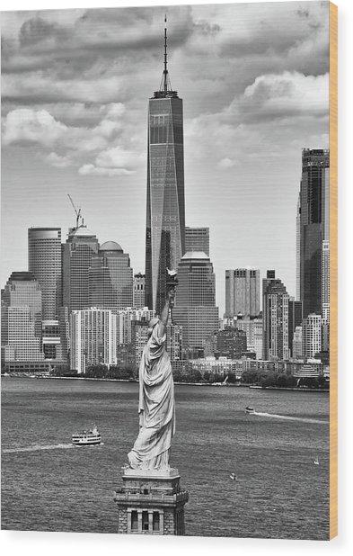 Liberty And Freedom 2 Wood Print