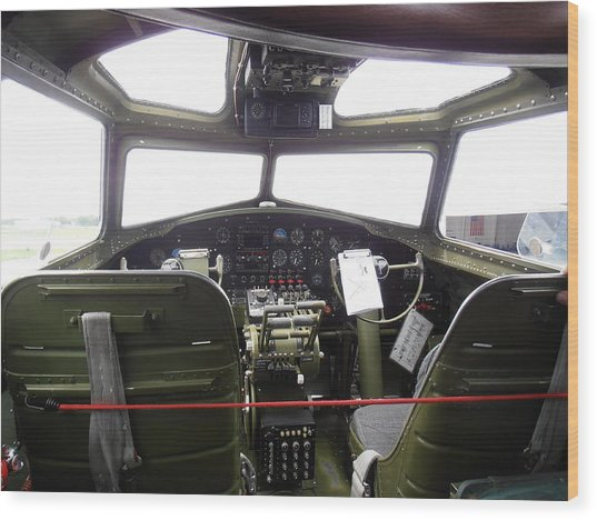 Liberty Belle B17 Cockpit Wood Print