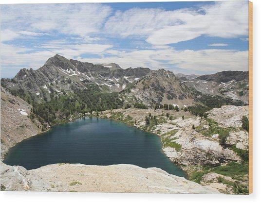 Liberty Lake At Nevada's Ruby Mountains Wood Print