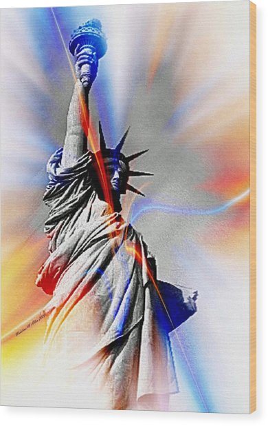 Liberty Wood Print by Madeline  Allen - SmudgeArt