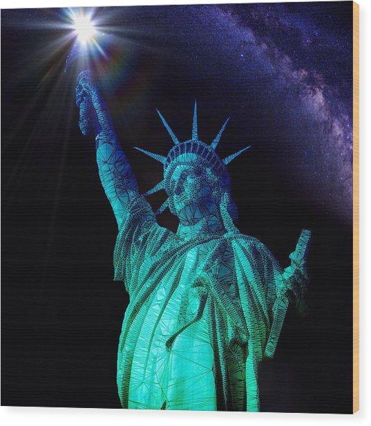 Liberty Sky Wood Print