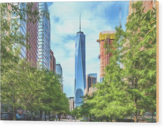 Liberty Tower Wood Print