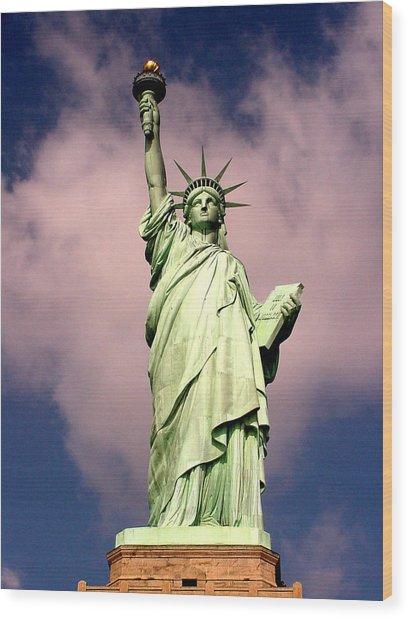 Liberty V01 Wood Print
