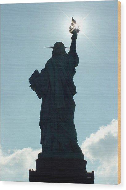 Liberty V02 Wood Print