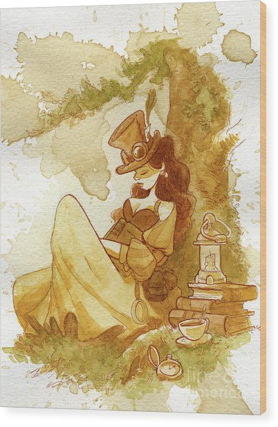 Librarian Wood Print by Brian Kesinger