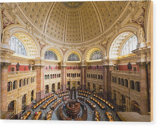 Library Of Congress I Wood Print by Robert Davis