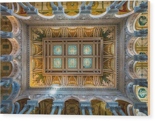 Library Of Congress II Wood Print by Robert Davis