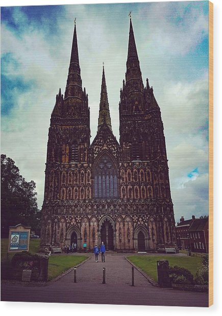 Lichfield Cathedral Wood Print