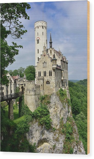 Lichtenstein Castle Wood Print