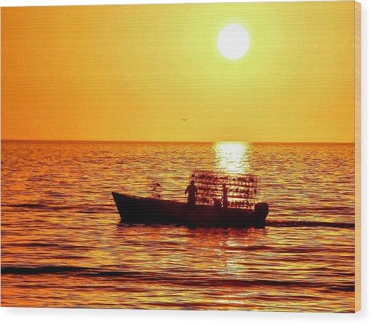 Life At Sea Wood Print