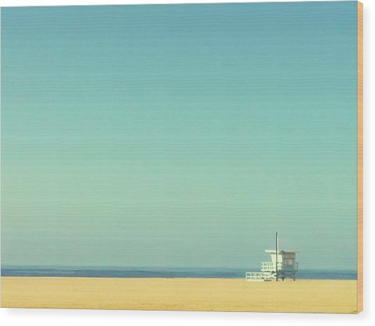 Life Guard Tower Wood Print