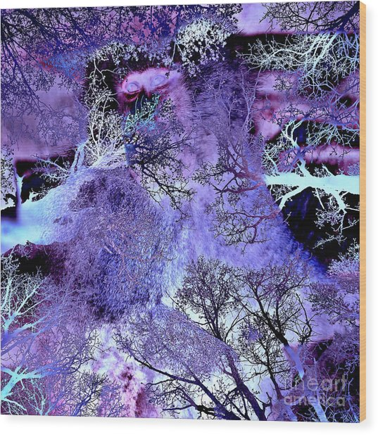 Life In The Ultra Violet Bush Of Ghosts  Wood Print