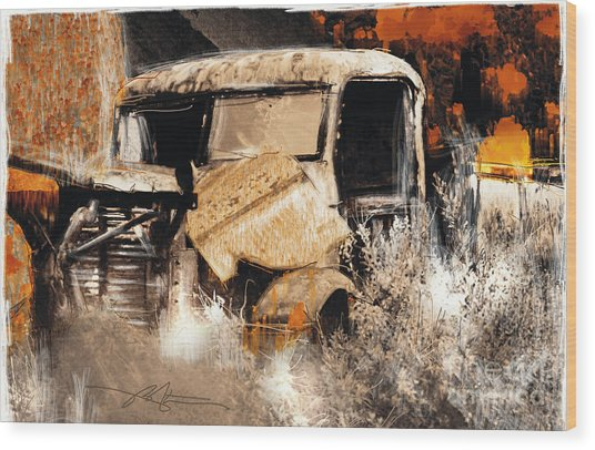 Life Is A Highway Wood Print by Bob Salo
