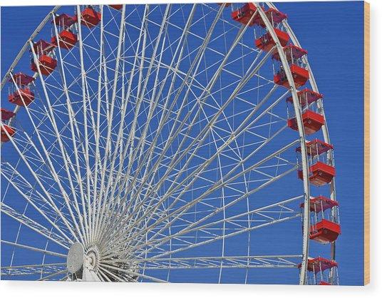 Life Is Like A Ferris Wheel Wood Print