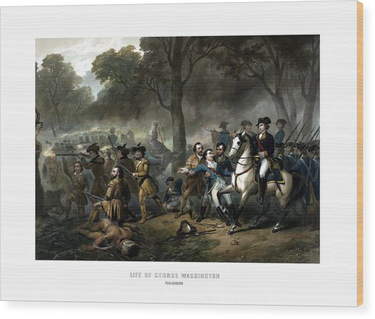 Life Of George Washington - The Soldier Wood Print