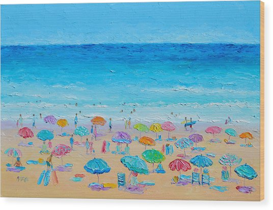 Life On The Beach Wood Print