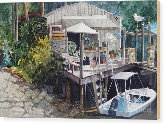 Wood Print featuring the painting Life On The Water IIi by Douglas Teller