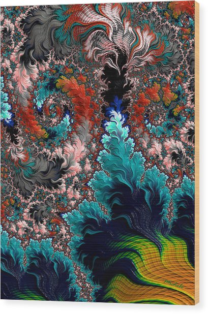 Life Underwater Wood Print