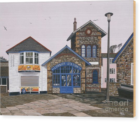 Lifeboat Station Wood Print