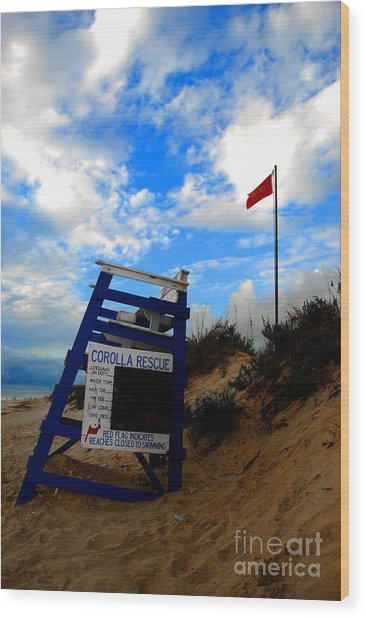 Lifeguard Aol Wood Print