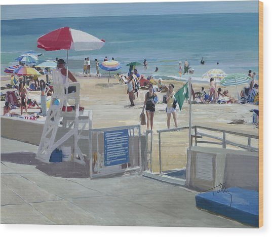 Lifeguard On Duty Wood Print