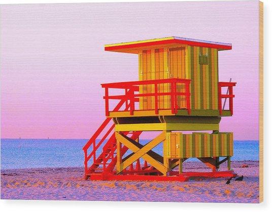 Lifeguard Stand Miami Beach Wood Print