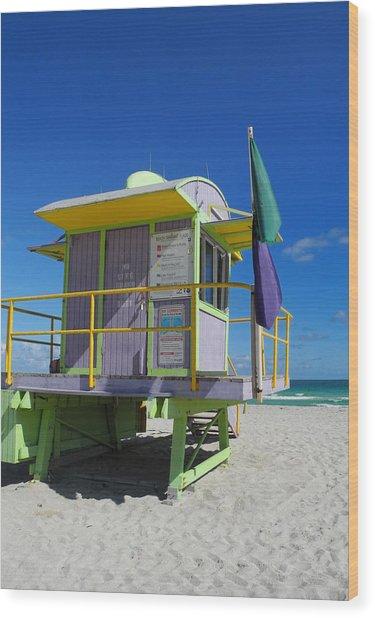 Lifeguard Tower 2 - South Beach - Miami Wood Print