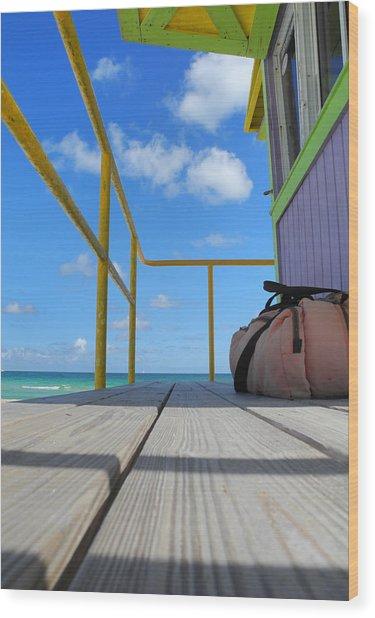 Lifeguard Tower 2.2 - South Beach - Miami Wood Print