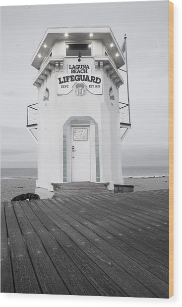 Lifeguard Tower Wood Print