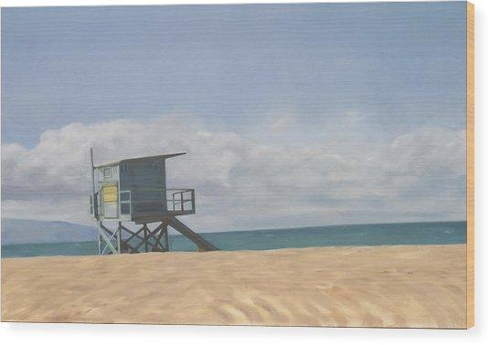 Lifeguard Tower Wood Print by Merle Keller