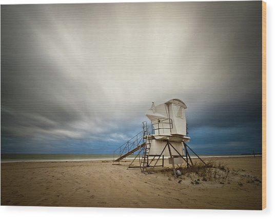 Lifeguard Tower Takeoff Wood Print