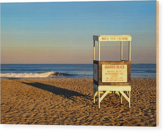 Lifeguard Stand At Ocean City Nj Wood Print