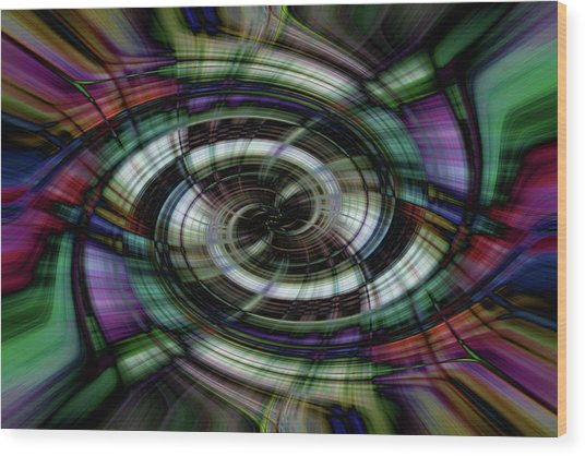 Light Abstract 6 Wood Print