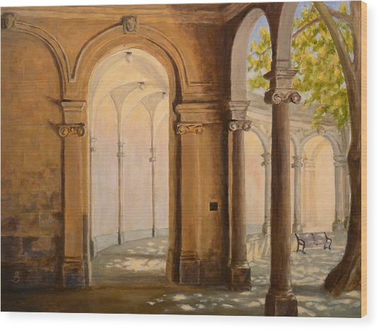 Light At The End Of The Tunnel Monmouth University Wood Print by Joe Bergholm