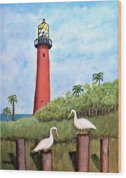 Light Beacon Wood Print
