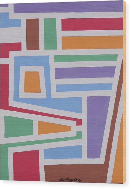 Light Blue Stripes Wood Print