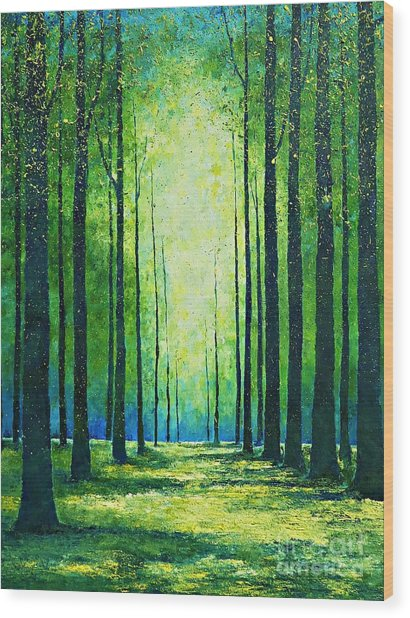 Light From Green Wood Print