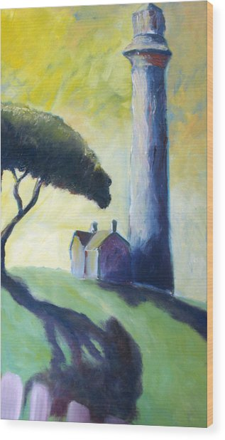 Light House Wood Print by Mike Segura