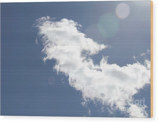 Light In Cloud Flare Wood Print