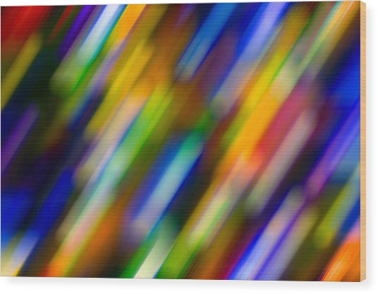 Light In Motion Wood Print