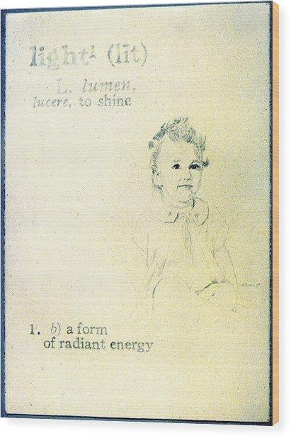 Light Wood Print by Janice Crow
