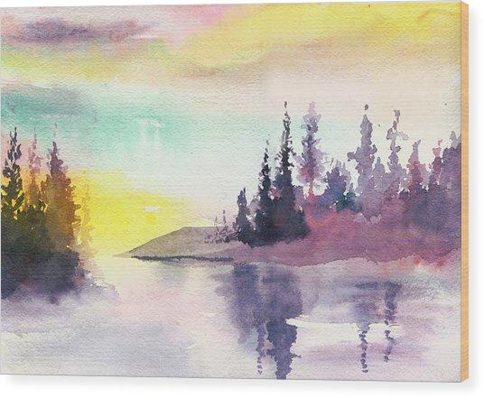 Light N River Wood Print